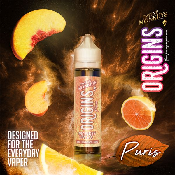 ORIGINS Puris Shortfill 50ml - Twelve Monkeys
