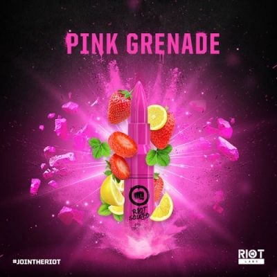Riot Squad PINK GRENADE 50ml OVERDOSED - E-Liquid made in UK ohne Nikotin